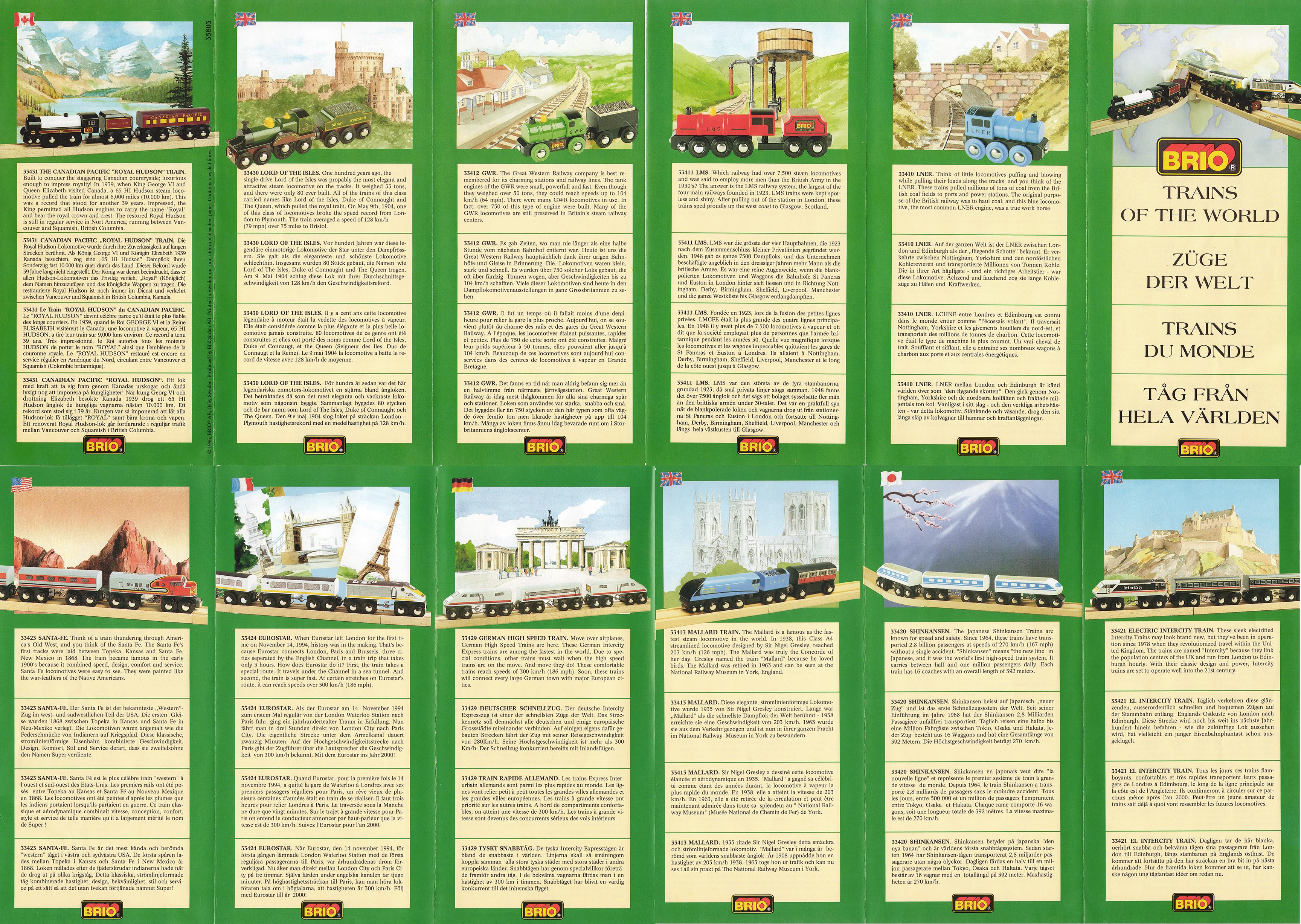 Themed Booklets And Foldouts Brio Wooden Railway Guide