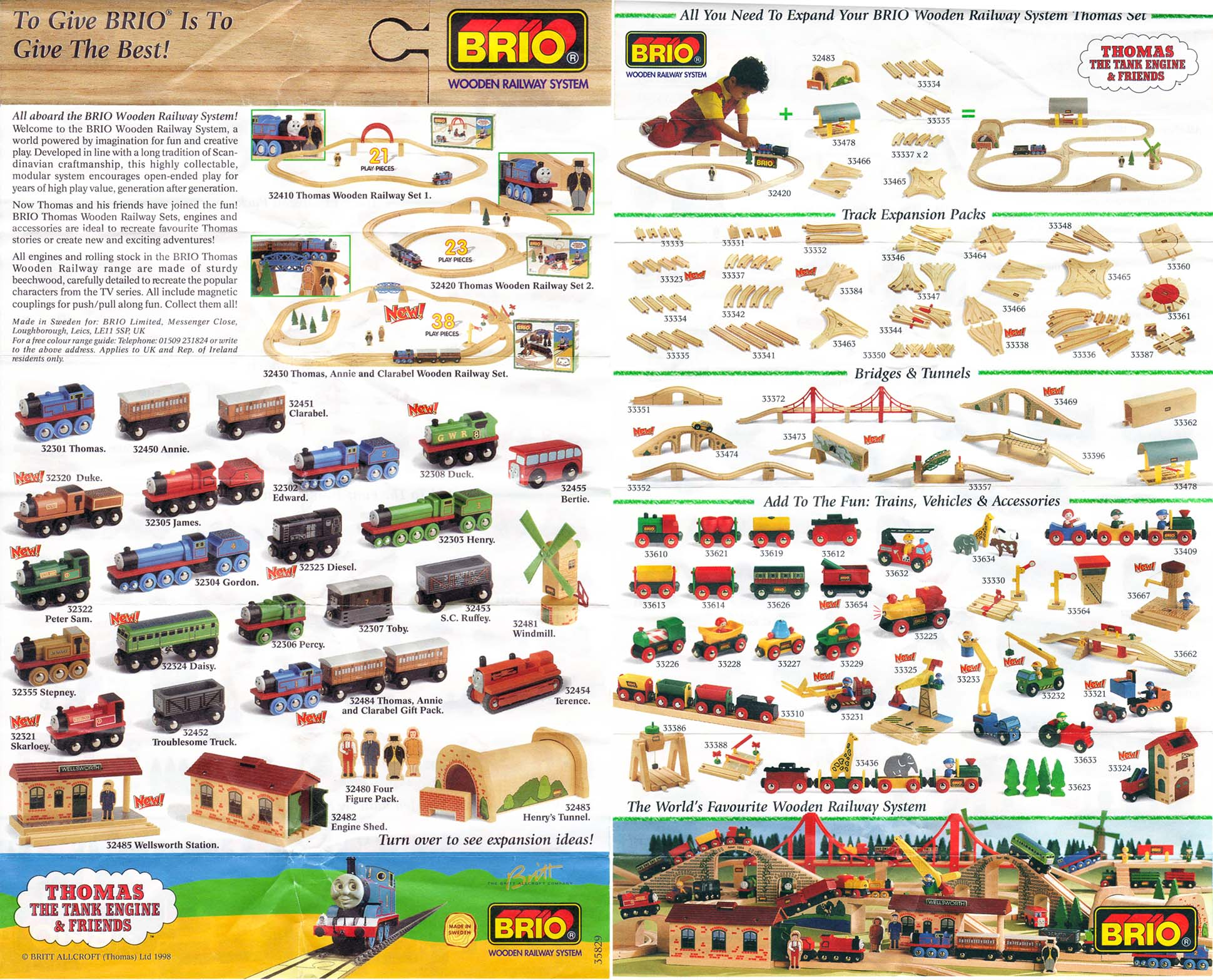 Themed Booklets And Foldouts Brio 174 Wooden Railway Guide